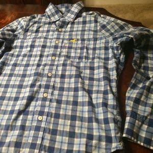 Mens Hollister Long Sleeve Button Down Shirt (S)